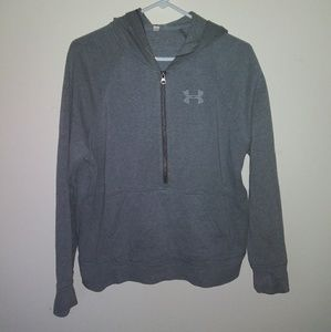 UNDER Armour half jip Grey Hoodie. Like New!